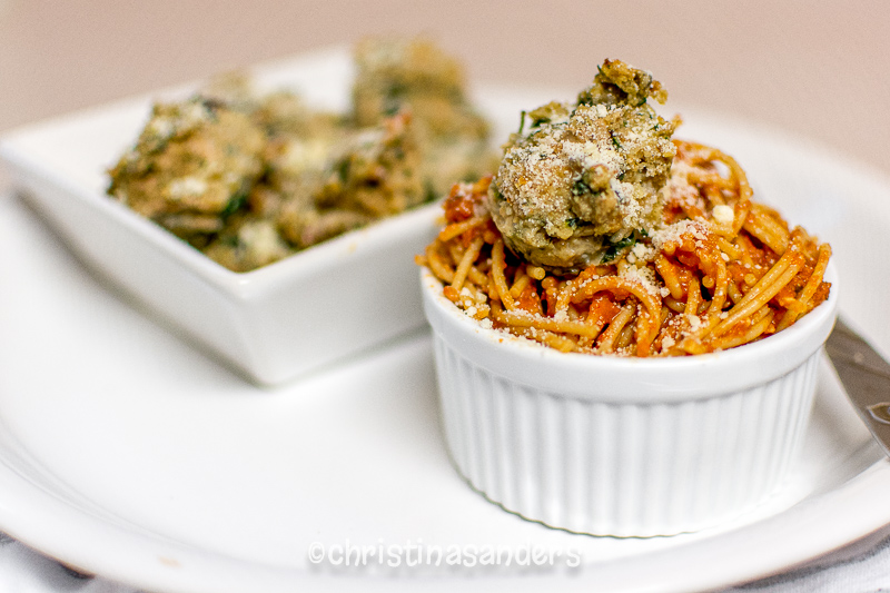 Christina Sanders Photography | Skinny Turkey Meatballs, with spinach